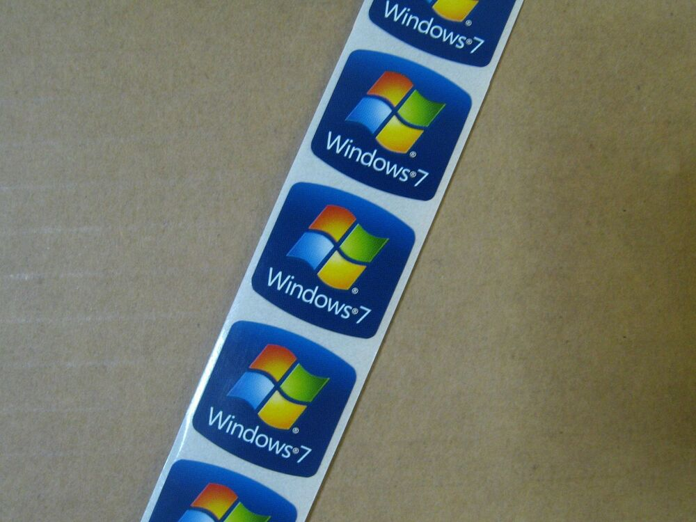 100pcs windows 7 18mm x 18mm stickers label case badge logo ebay. Black Bedroom Furniture Sets. Home Design Ideas