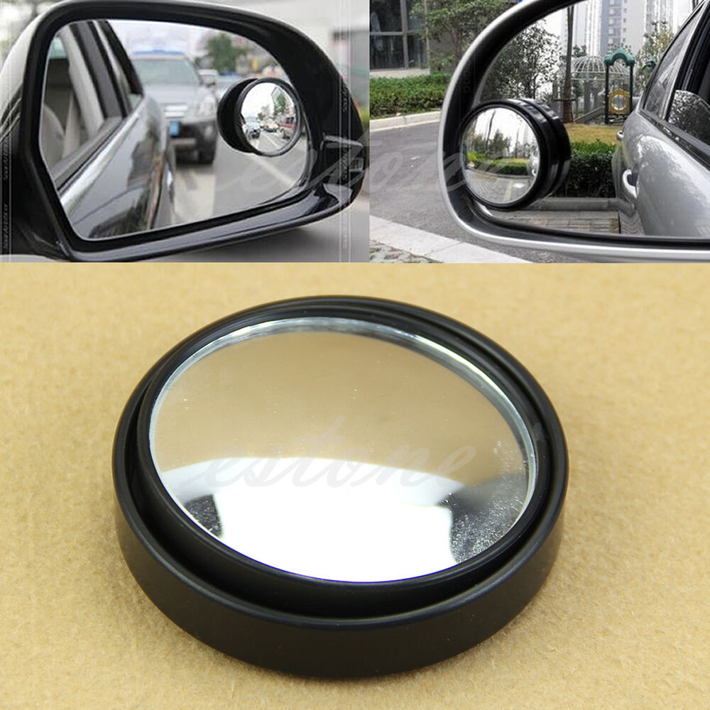 noir grand angle voiture rond convexe r troviseur miroir d 39 angle mort ebay. Black Bedroom Furniture Sets. Home Design Ideas