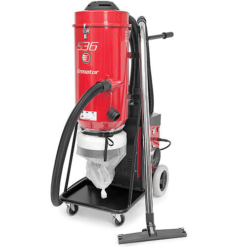 Ermator s36 hepa vacuum 230v heavy duty dust collector for for Best vacuum for cement floors