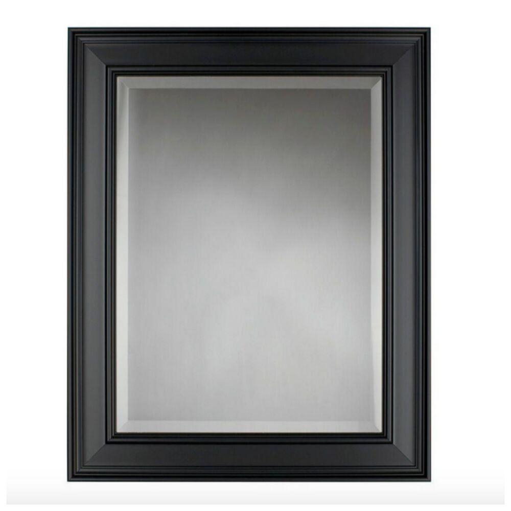 Bathroom Bath Mirror Hanging Wall Vanity Mount Black Framed Decorative Decor New Ebay