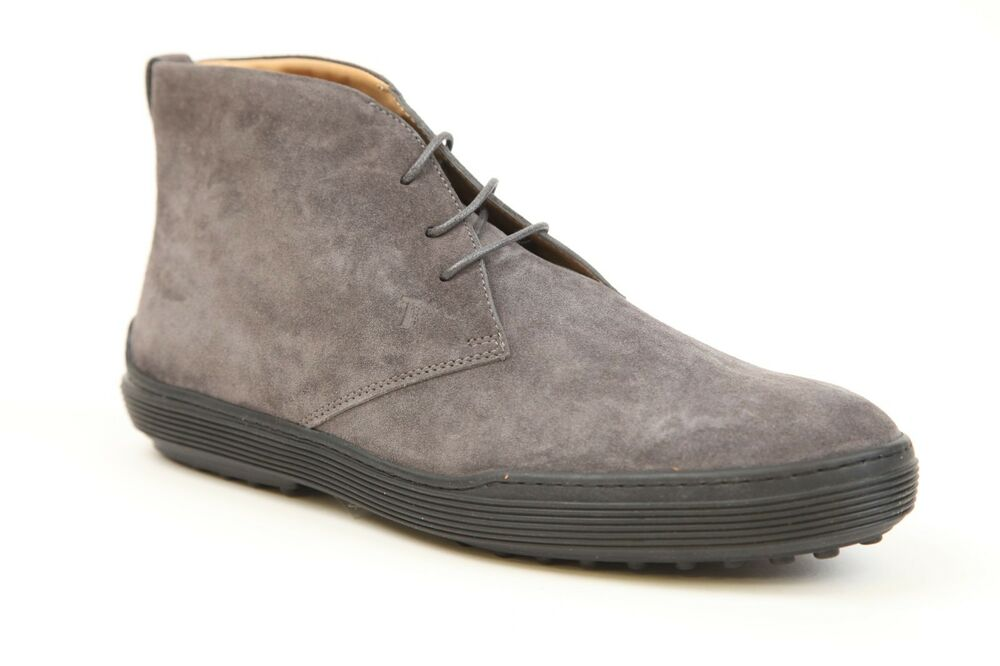 tods grey suede chukka boots shoes size 9 new ebay