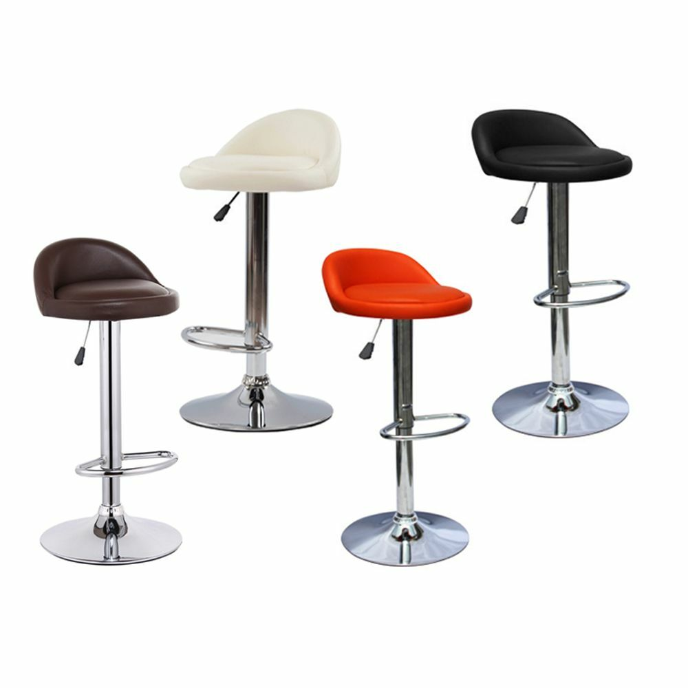2 Leather Bar Stools Swivel Dinning Counter Adjustable
