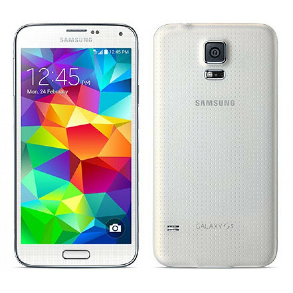 samsung galaxy s5 sm g900a 16gb shimmery white at t. Black Bedroom Furniture Sets. Home Design Ideas