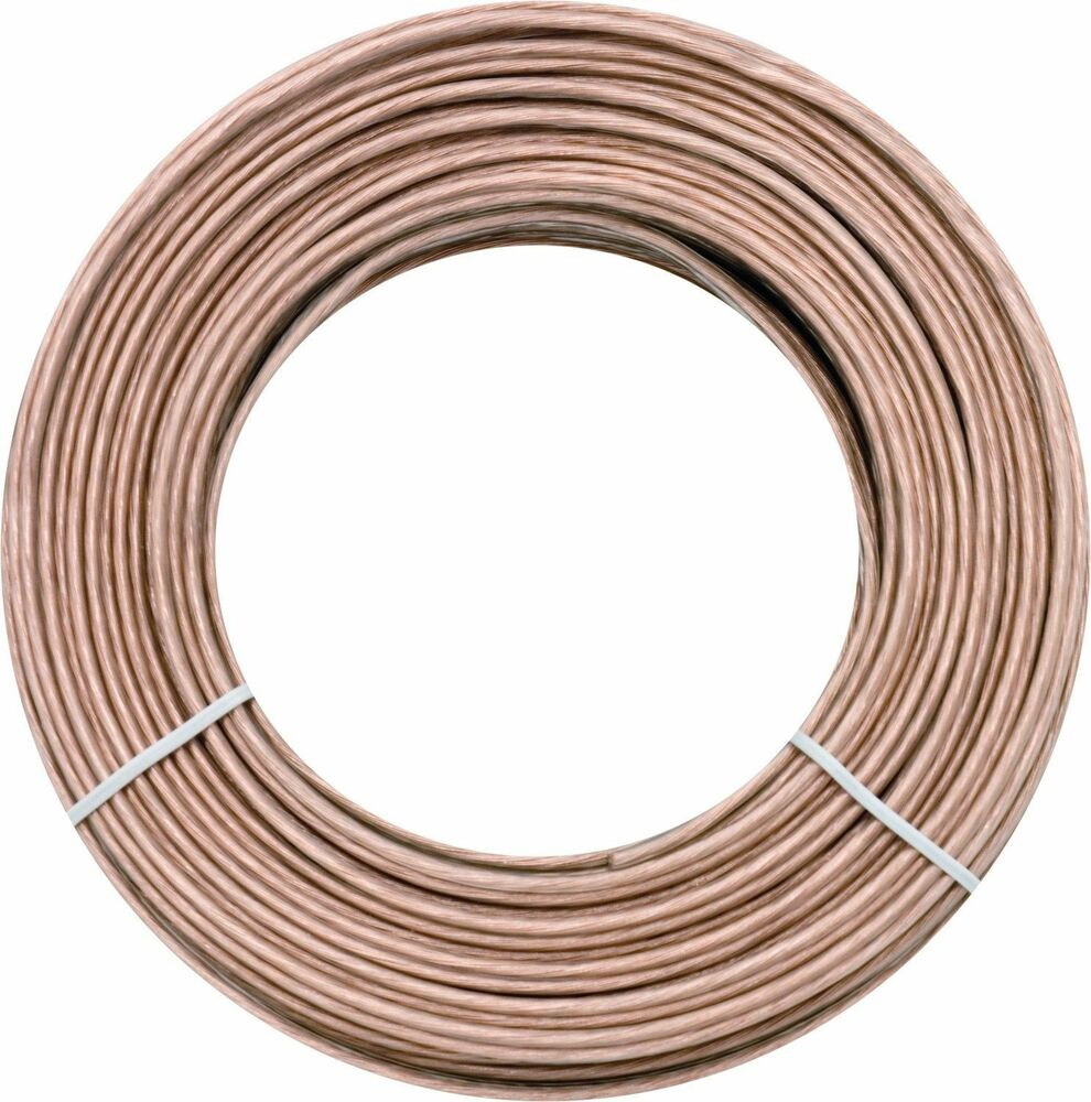 New Ge 50 Ft Feet 18 Awg Ag Gauge Audio Speaker Wire Cable