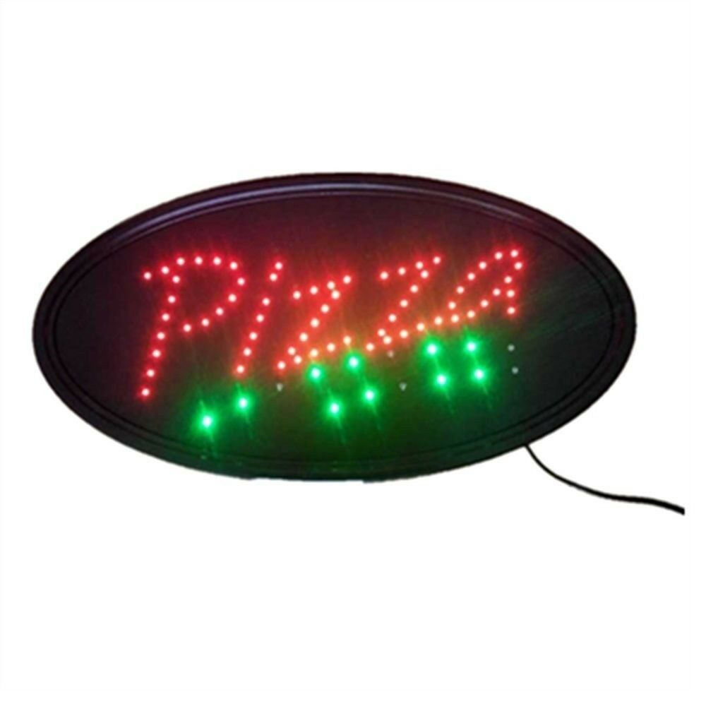Neon Lights LED Animated Pizza Sign Customers Attractive