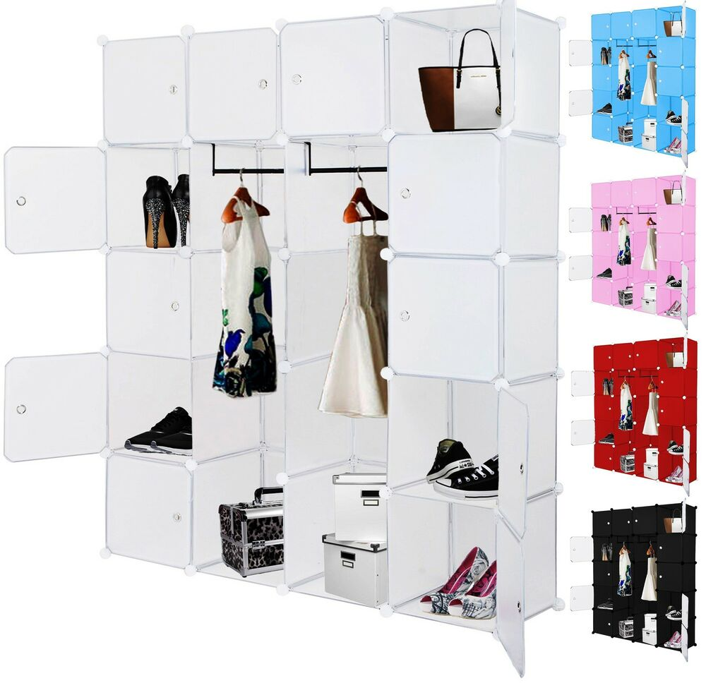 kesser kleiderschrank diy schrank regalsystem steckregal garderobe schuhregal ebay. Black Bedroom Furniture Sets. Home Design Ideas