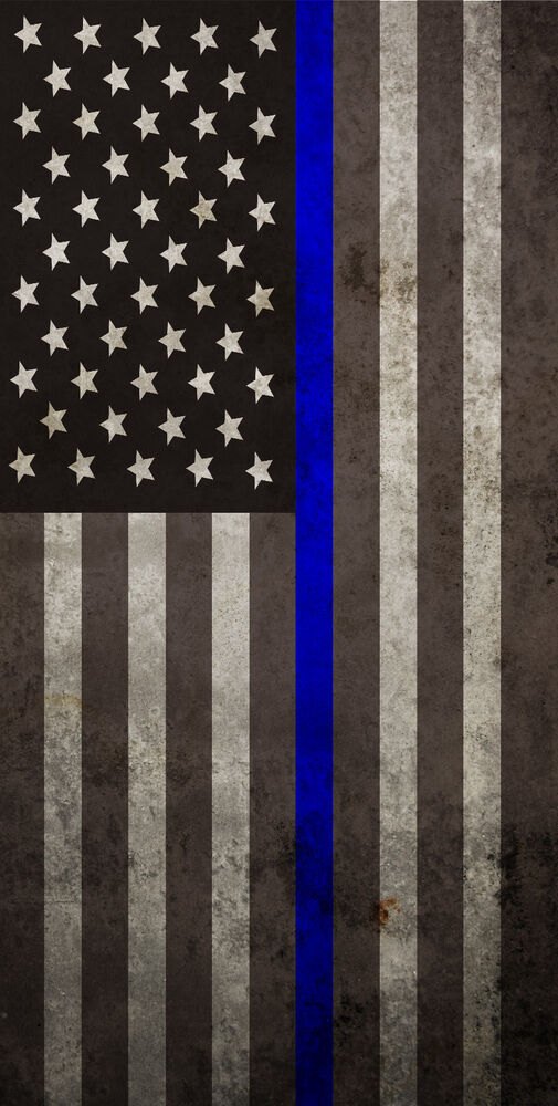 Police Thin Blue Line American Flag Cornhole Board Prints