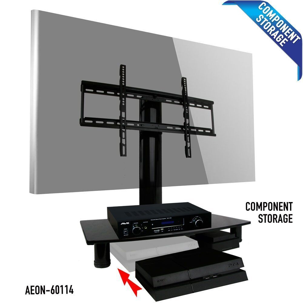 universal tv stand fits samsung vizio lg tcl sony w height adjustable legs ebay. Black Bedroom Furniture Sets. Home Design Ideas