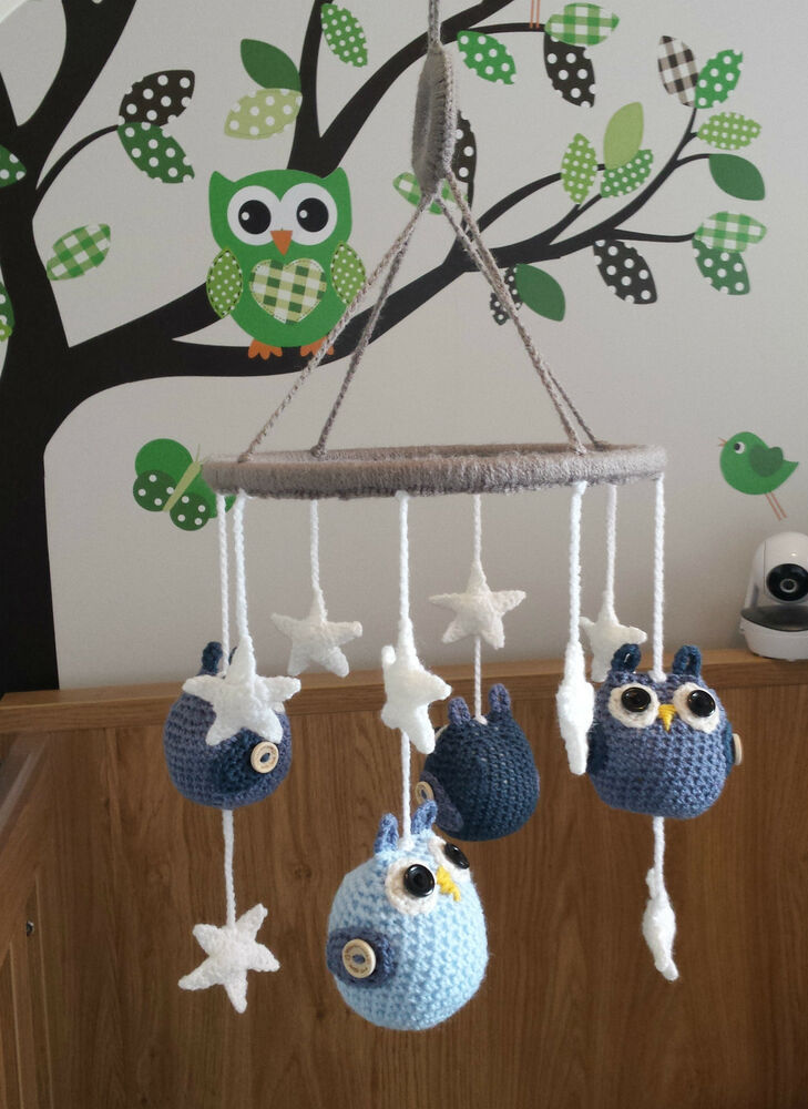 Boys Girls Handmade Crochet Baby Childs Nursery Bedroom
