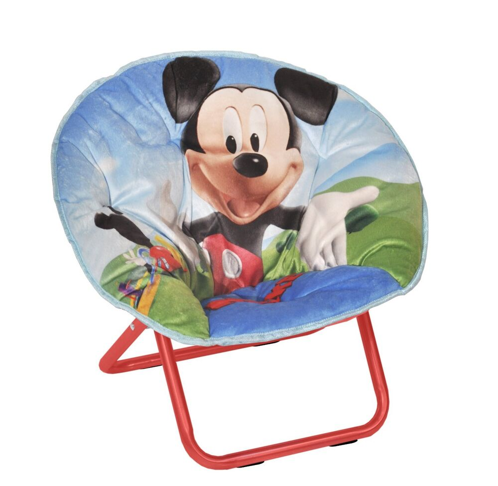 Disney Toys For Boys : Folding camping chair mickey mouse toddler seat moon kids