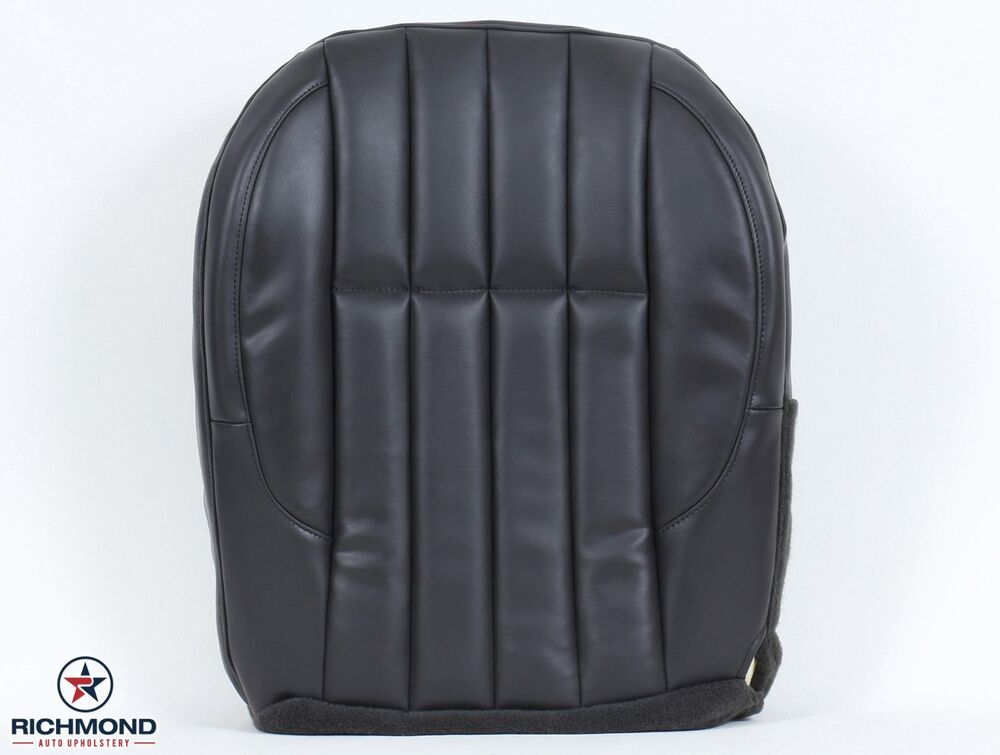 2000 jeep grand cherokee limited driver side bottom leather seat cover dk gray ebay. Black Bedroom Furniture Sets. Home Design Ideas