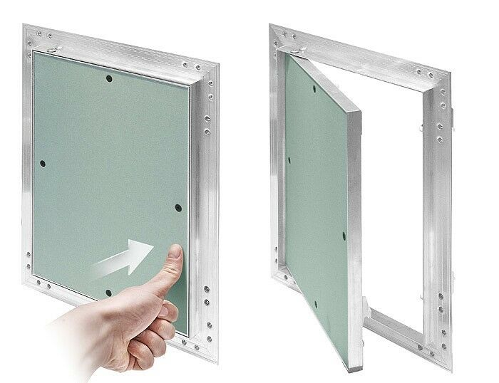 Access Doors And Panels : Plasterboard access panels with aluminium frame inspection