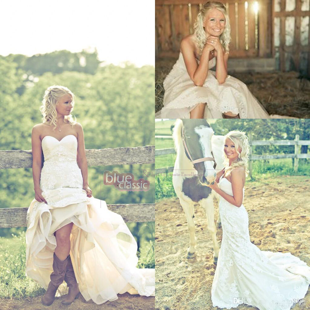 New cowgirl boots country wedding dresses long lace maid for Wedding dress with boots