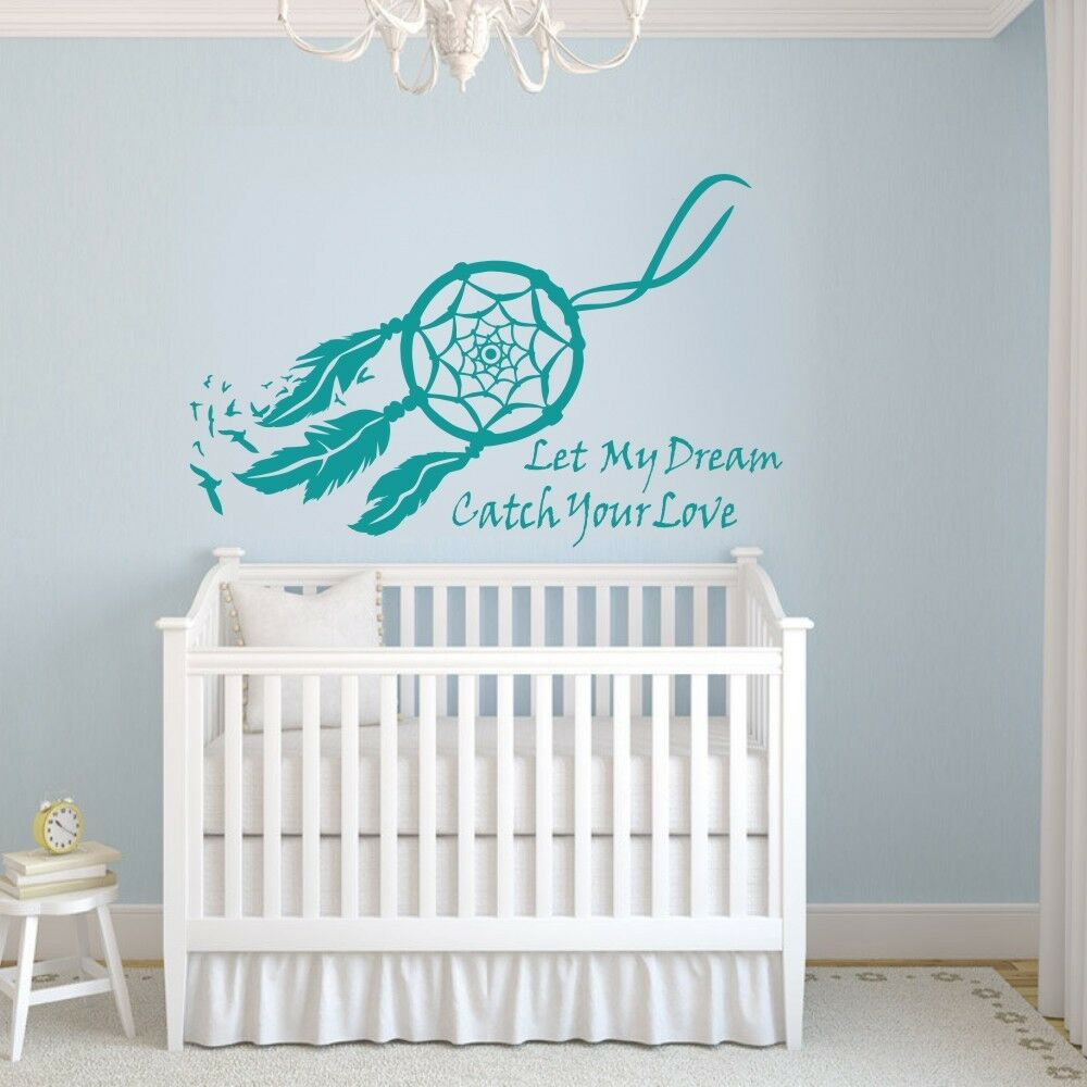 Dream catcher wall sticker quote symbol girl master room for Decor dreams