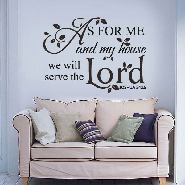 Scripture Bible Wall Decal As For Me My House Lord Quote ...
