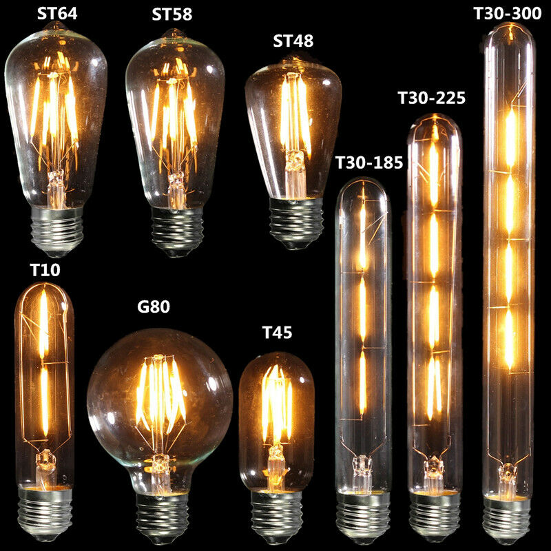 e27 edison vintage cob led licht lampe filament nostalgie. Black Bedroom Furniture Sets. Home Design Ideas