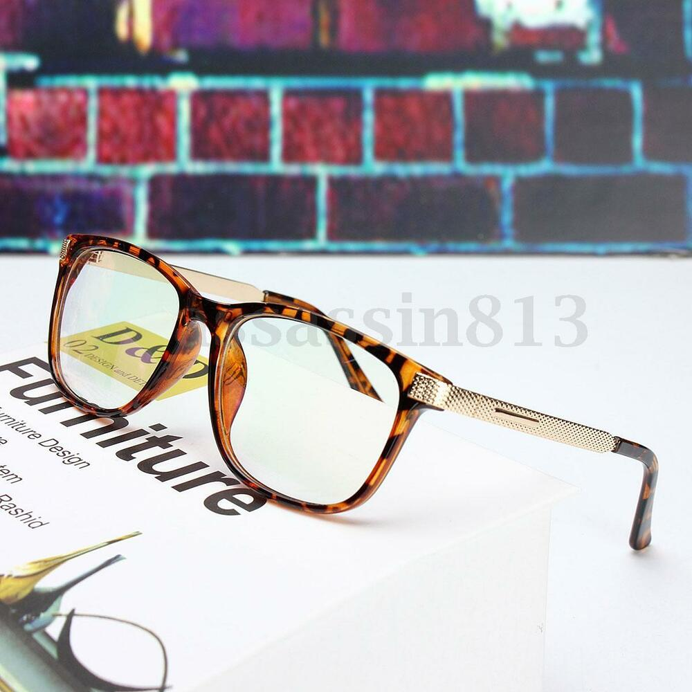 Retro Unisex Eyeglass Frame Full-Rim Glasses Clear Lens ...