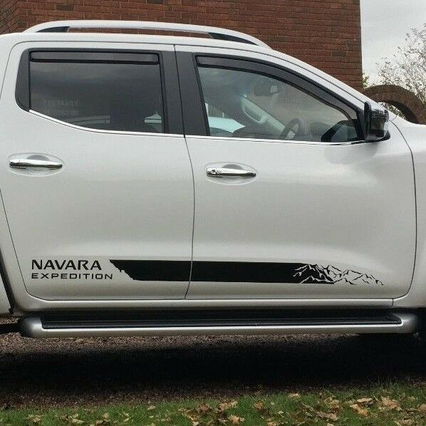 Nissan np300 navara expedition 2016 side stripe decal graphics ebay