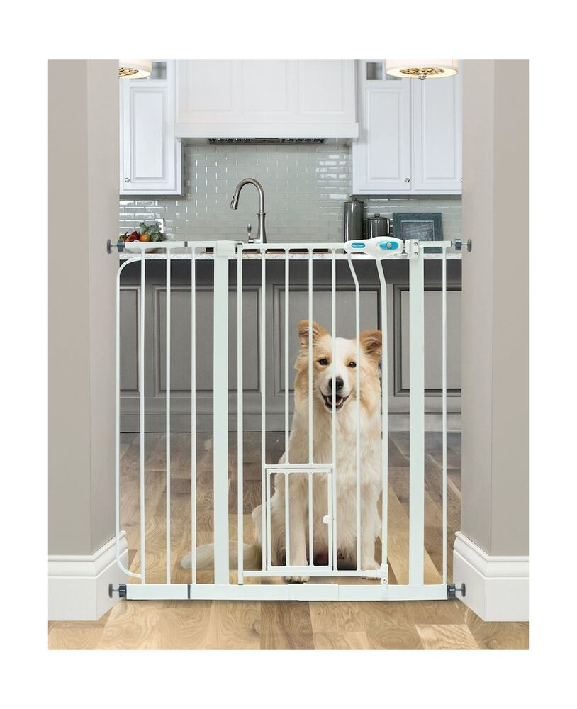 Carlson Extra Wide Walk Through Gate With Pet Door Ebay