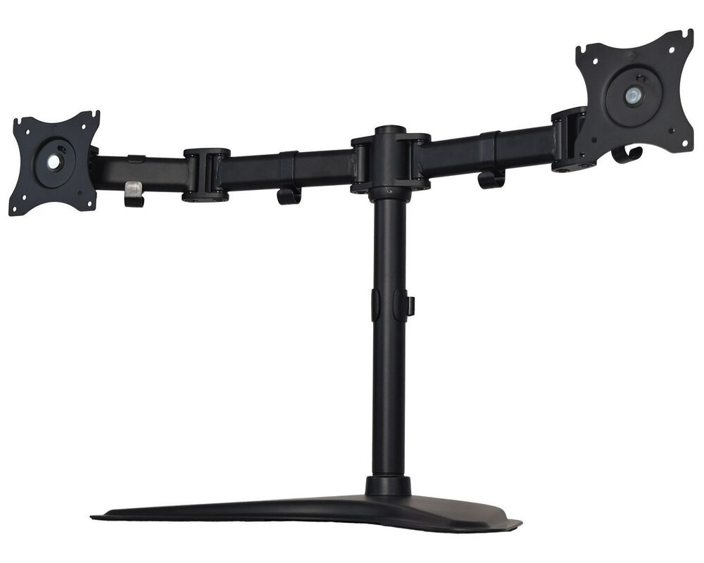 Dual Monitor Desk Stand Mount Double Lcd 2 Screens Fully