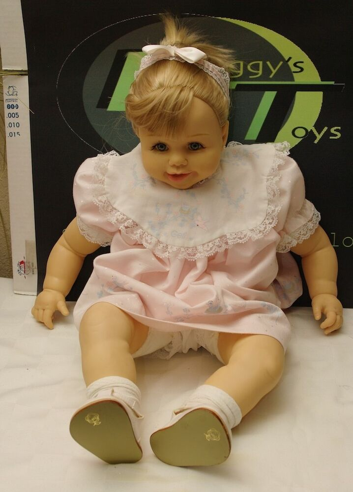 Geli Doll Made In Mexico Large Baby Doll Blonde Gray Eyes