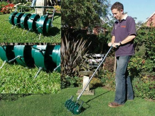 Remi Tools Rolling Lawn Aerator For Perfect Lawns Grass
