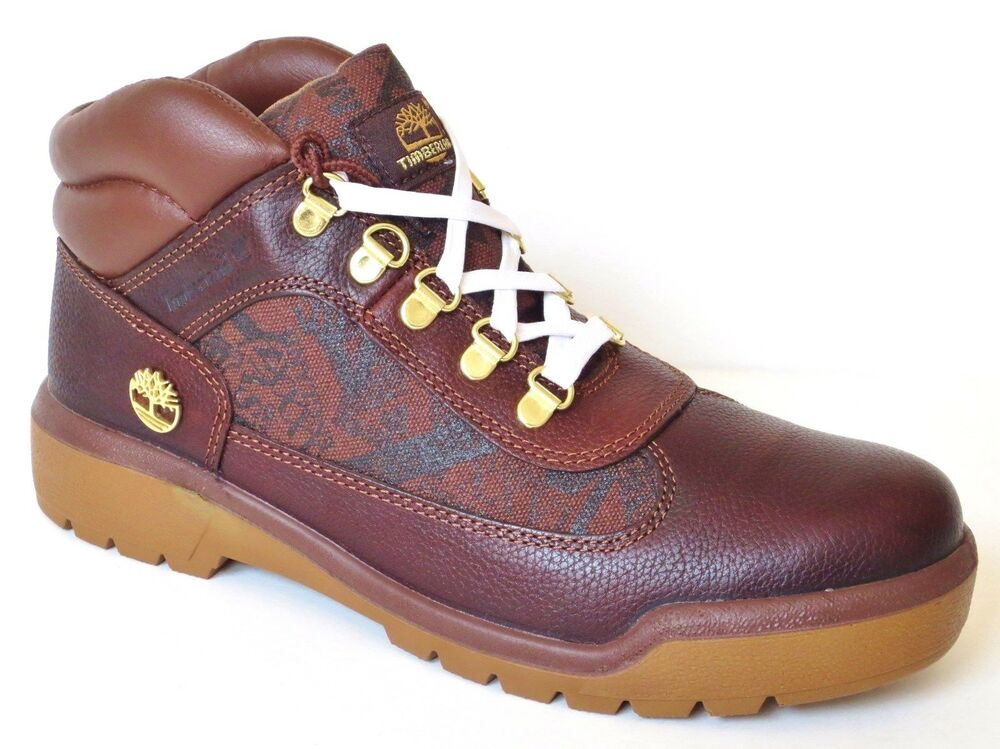 timberland a14l3 s brown smooth leather field boots