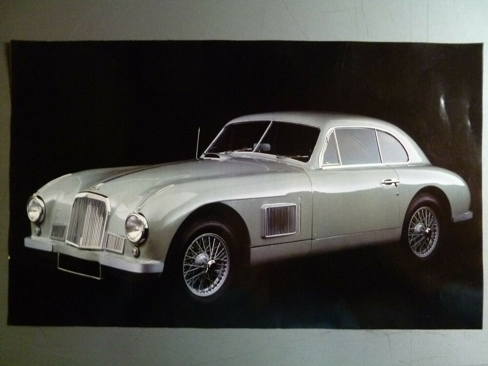 1951 aston-martin db2 coupe print, picture, poster rare!! awesome l
