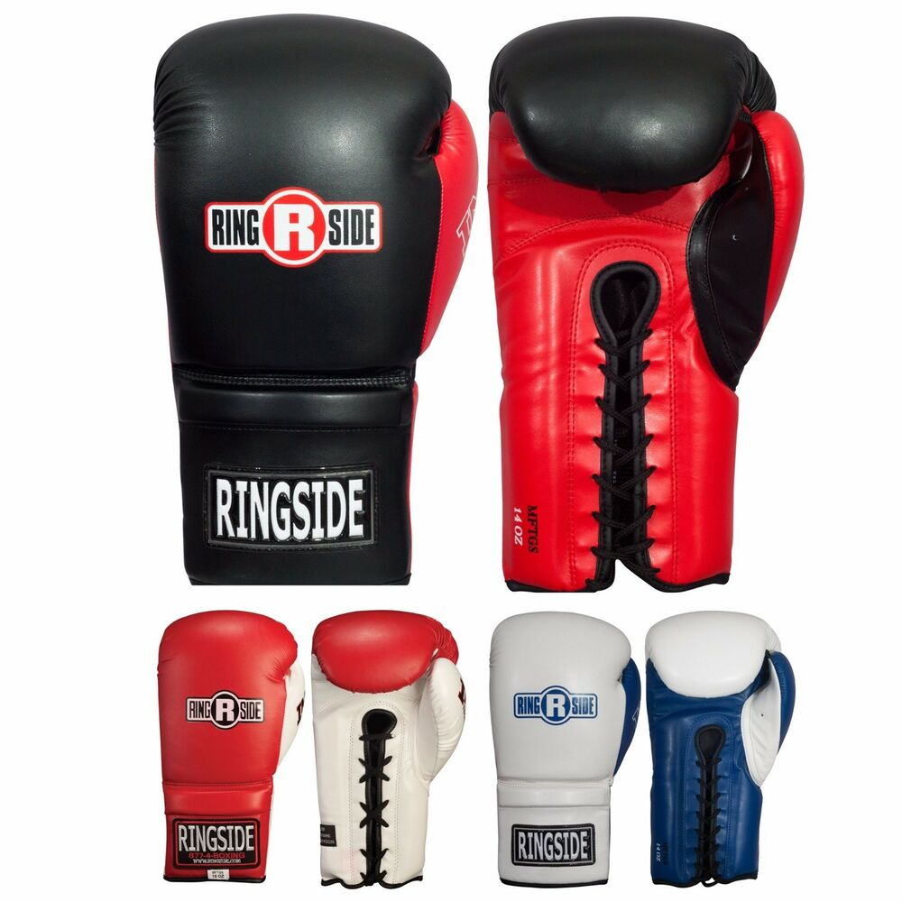 ringside boxing imf tech lace up sparring gloves ebay