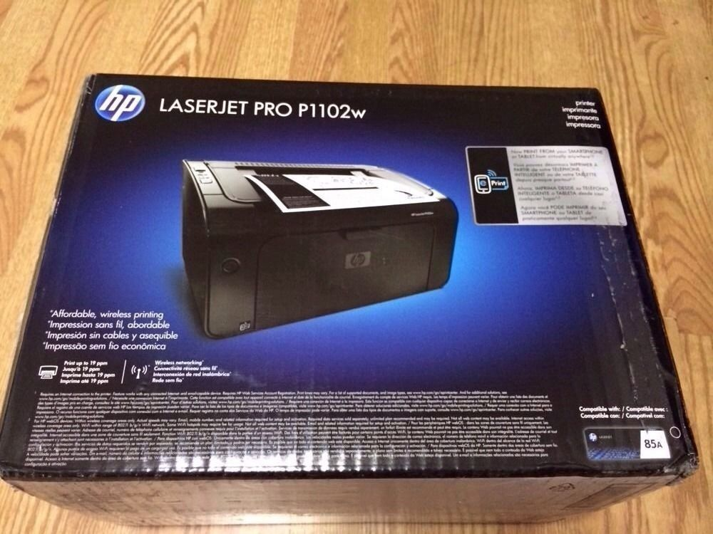 brand new hp laserjet pro p1102w laser printer ebay. Black Bedroom Furniture Sets. Home Design Ideas