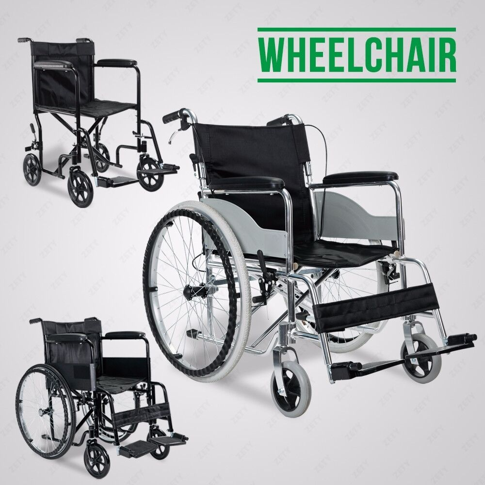 Lightweight Comfortable Portable Folding Wheelchair W