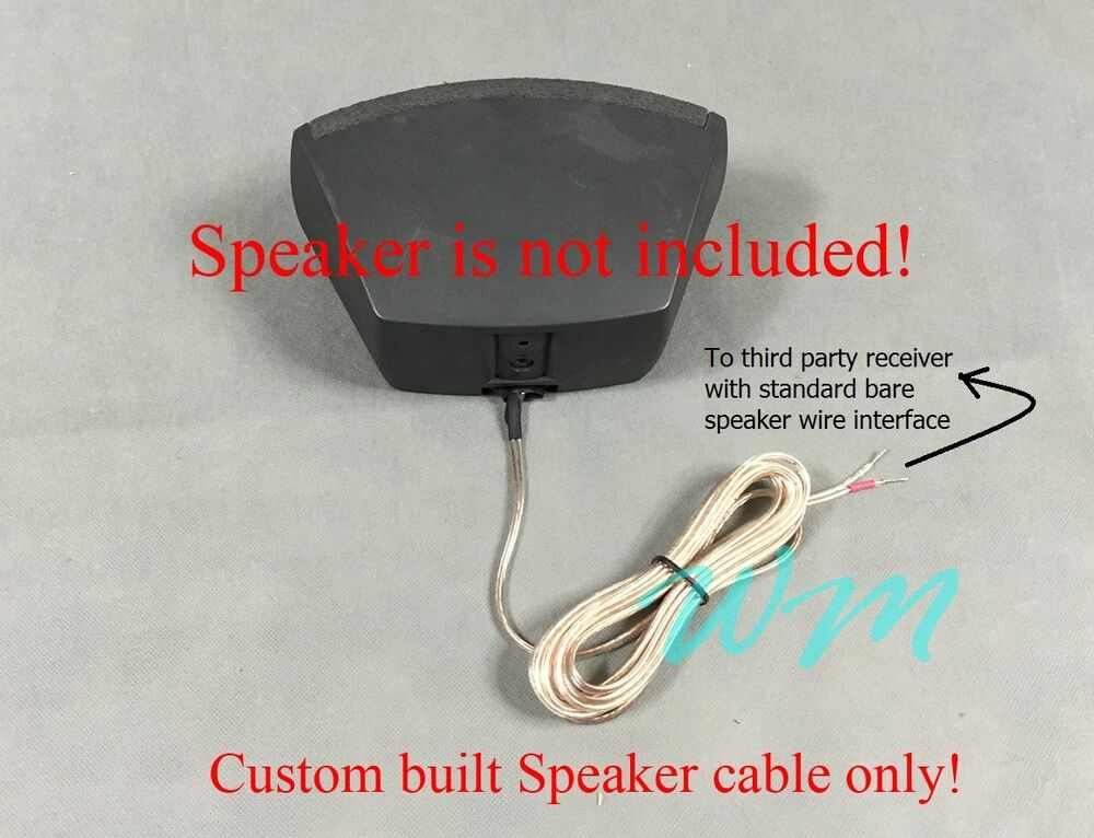 2x 10ft Cables For Connecting Bose 321 Cinemate Speaker To