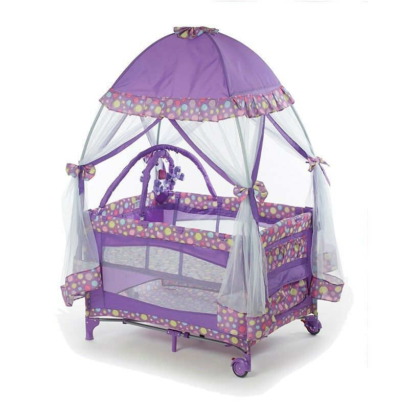 Pack And Play W Mosquito Net Baby Playpen Infant Bassinet