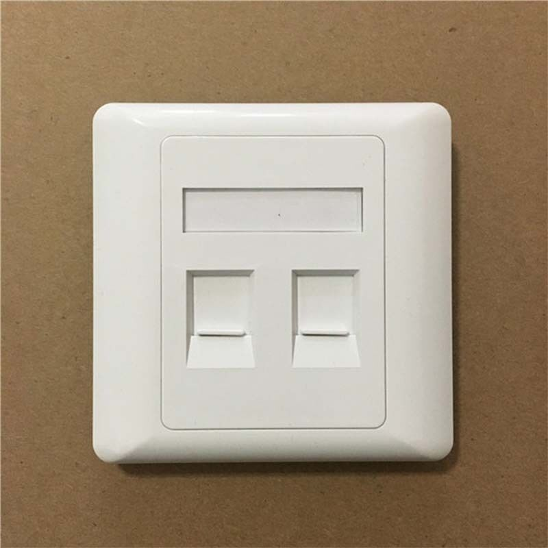 2 Port Double Rj45 Wall Face Plate Faceplate Network Lan