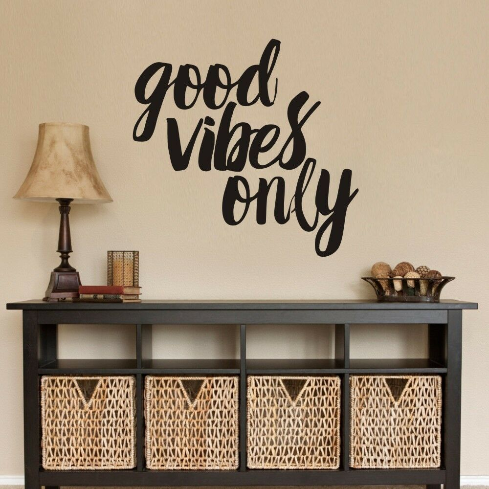 Inspirational Wall Sticker Good Vibes Only Quote Living Room Removable Art Decor Ebay
