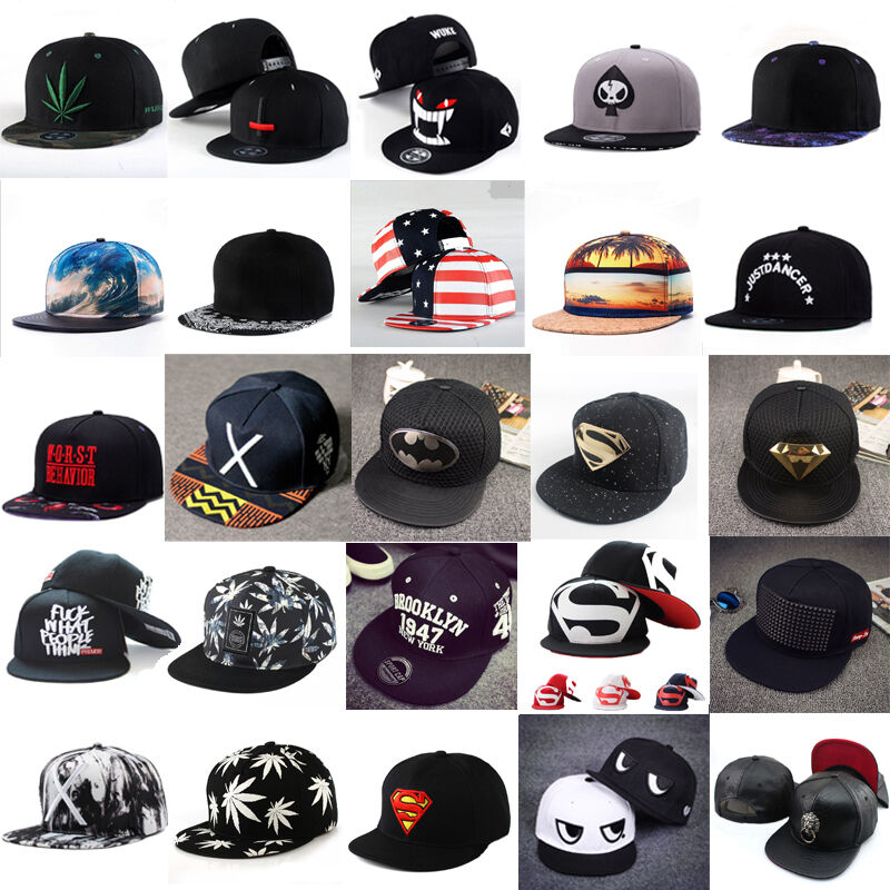 Cool Snapback Hats: Unisex Men Women Snapback Adjustable Baseball Cap Hip Hop
