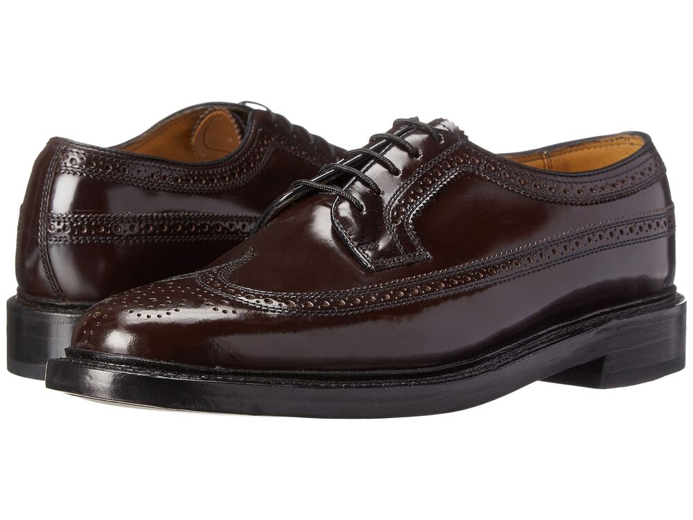 Wide Shoes Men Wing Tip Shoes Burgandy