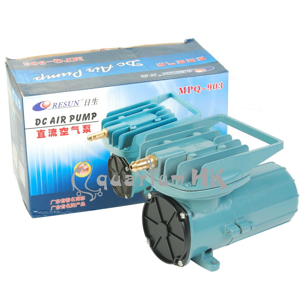 Resun Dc 12v 68l Min Compressor Air Pump Fish Pond Aquarium Hydroponics Mpq 903 Ebay