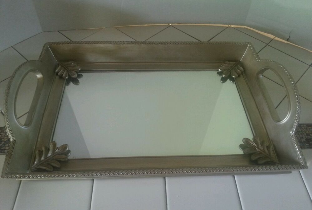 Highgate manor decorative mirrored vanity tray candle for Decorative bathroom tray