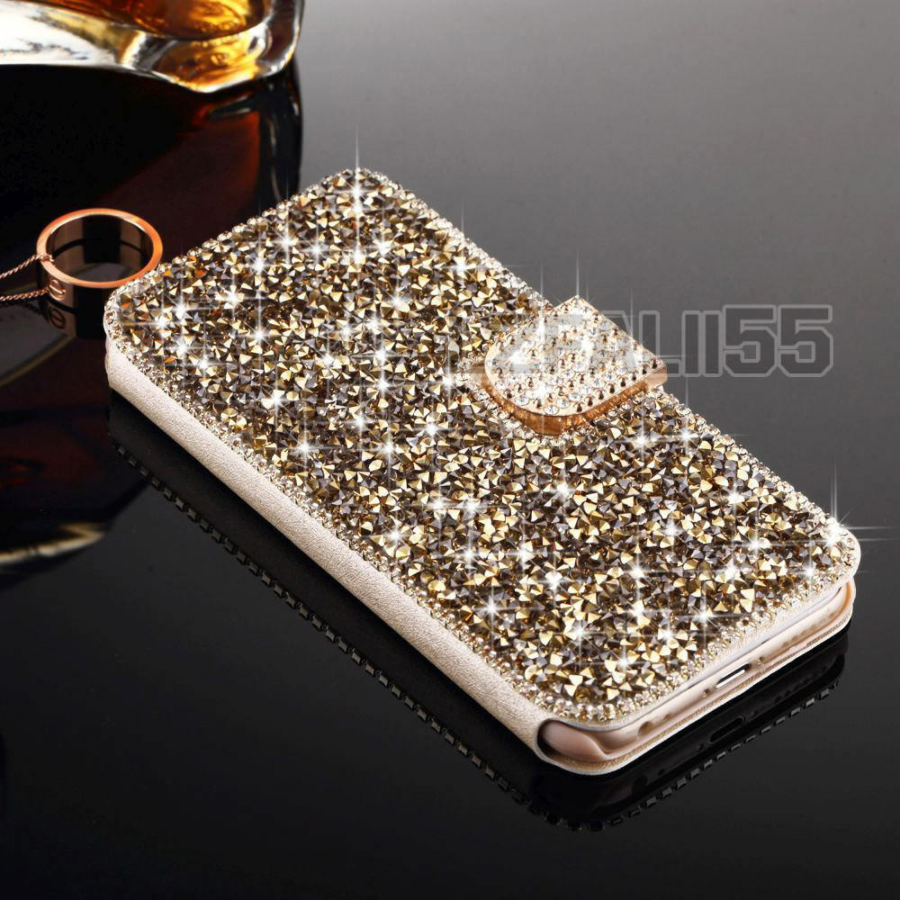 Iphone  Plus Bling Wallet Case