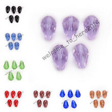 10x15mm Glass Crystal Faceted Teardrop Spacer Loose Beads Findings 52 Colors