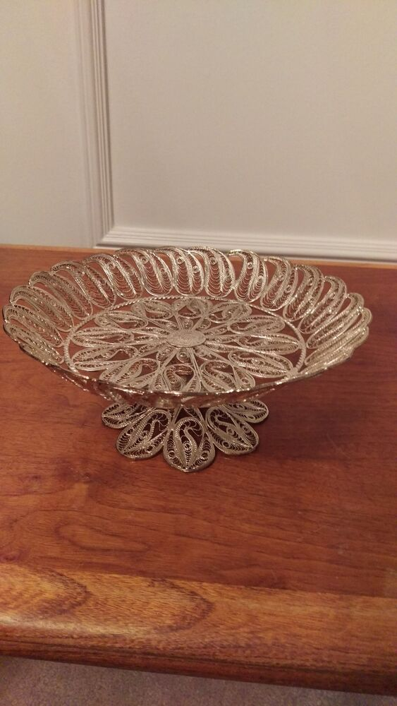 Ronac Handicraft Persian Silverplate Wire Filigree Rare
