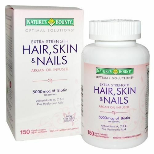 New! Hair Skin and Nails Natures Bounty Vitamin 150 ...