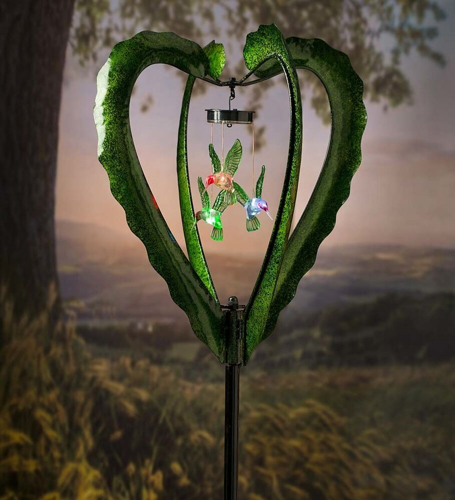 Solar Mobile Wind Spinner W Hummingbird Mobile Ebay