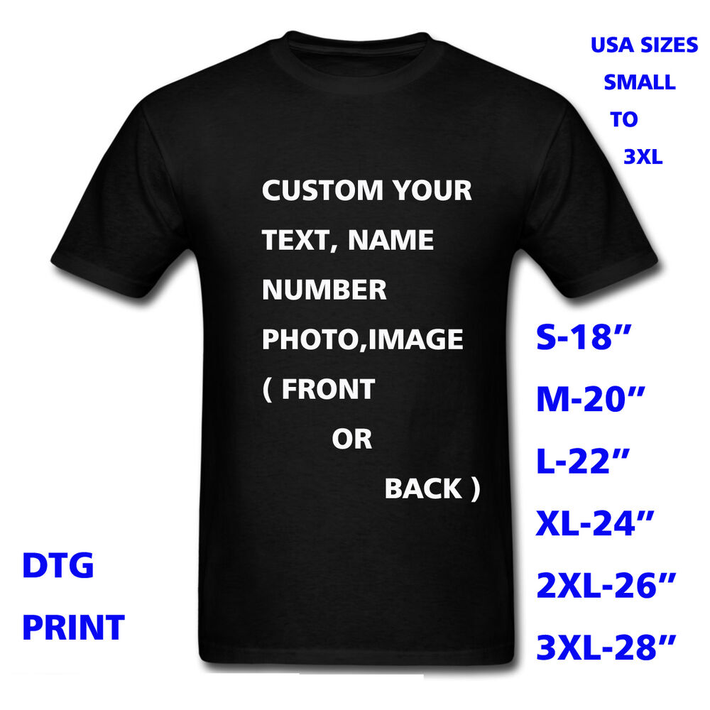Personalized t shirt custom your text printed many colors for Personal t shirt printing