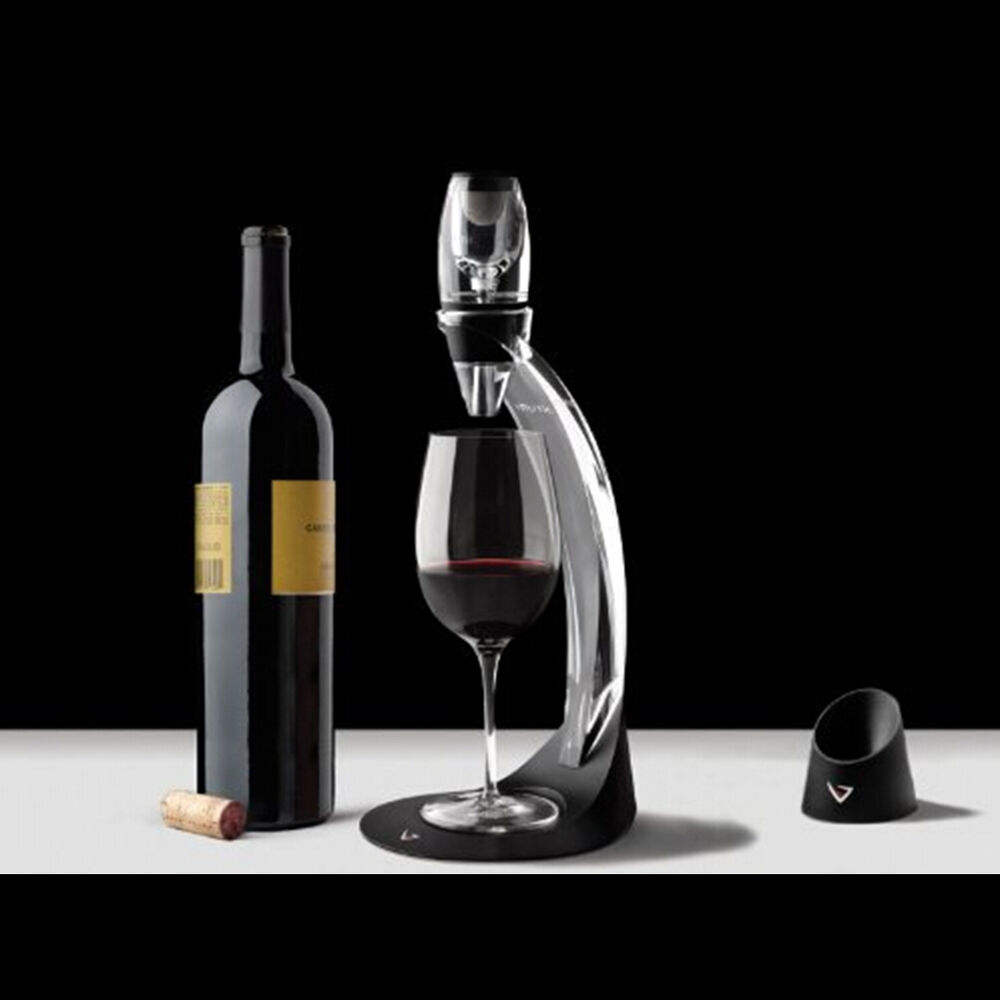 Red wine aerator decanter spout pourer bottle top set for What is wine decanter