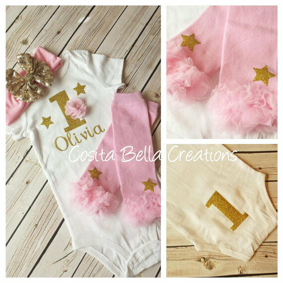 6fd69ed53 Details about first birthday outfit , Gold One Onesie, Pink And Gold Onesie