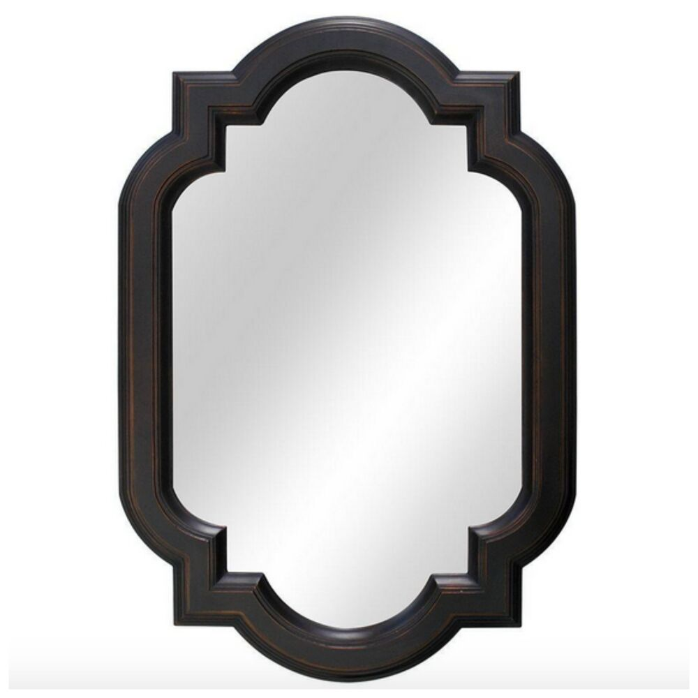 Decorative Bathroom Vanity Wall Mirrors : Bronze framed wall mirror hanging bathroom vanity home