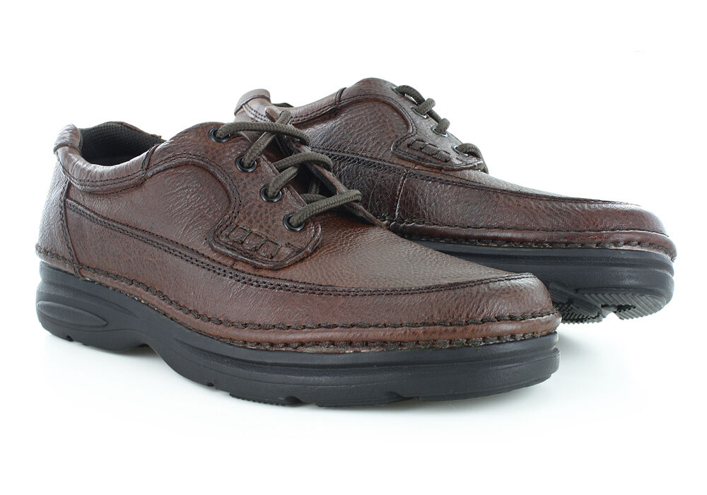 Nunn Bush Men S Cameron Tumbled Leather Brown Oxford Shoes