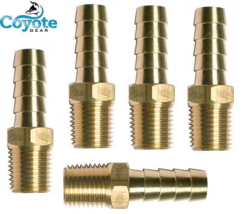 Ships free pack brass fittings quot hose barb